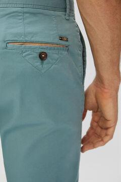 Cortefiel Pantalón chino básico slim fit ligero Burdeos