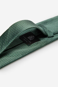 Cortefiel Textured weave tie Green