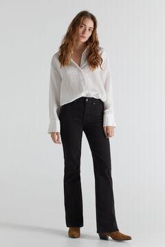 Cortefiel Bell-bottom jeans Black