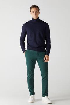 Cortefiel Essential slim fit chinos Dark green