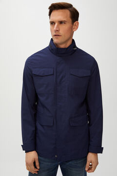 Cortefiel Technical jacket four pockets  Navy