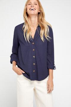 Cortefiel Comfort shirt Navy