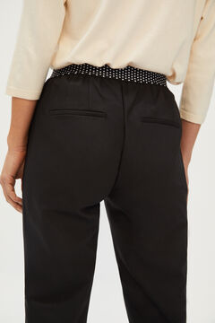 Cortefiel Stretch trousers Black