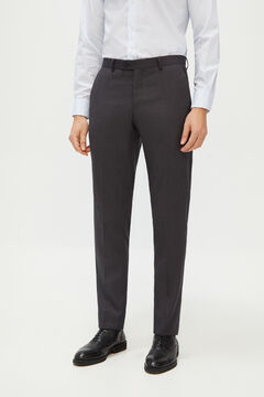 Cortefiel Grey slim fit suit trousers Marengo