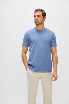 Cortefiel Short-sleeved T-shirt Royal blue