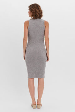 Cortefiel Jersey-knit midi dress Gray