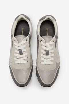 Cortefiel Rubber sole running sneaker Stone