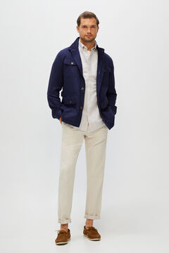 Cortefiel Safari jacket Turquoise