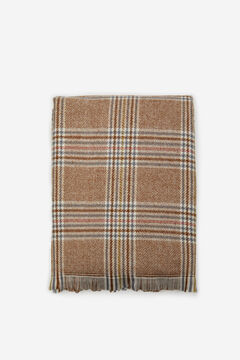 Cortefiel Prince of Wales check cosy scarf Stone