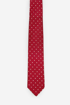 Cortefiel Polka-dot tie Red