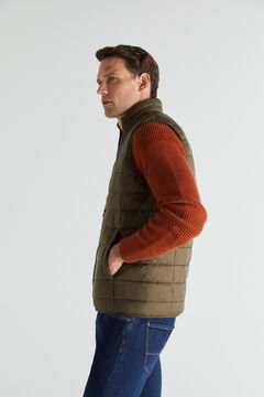 Cortefiel Ultralight quilted gilet Green