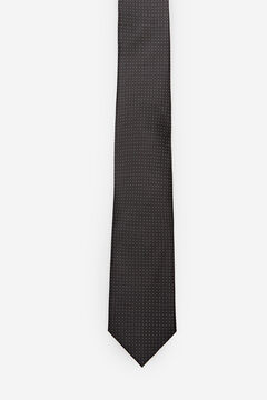 Cortefiel Micro dot tie Black