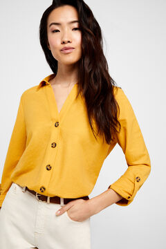 Cortefiel Comfort shirt Yellow