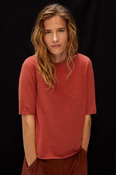Cortefiel Organic cotton jumper Red