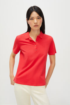 Cortefiel Essential piqué polo shirt Orange