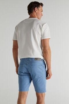 Cortefiel Bermuda jeans híbrida regular lavagem clara Azul