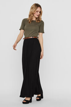 Cortefiel Long floaty skirt Black
