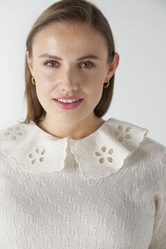 Cortefiel Jumper with detachable collar Ecru