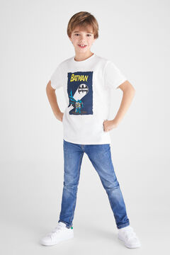 Cortefiel Short-sleeved Batman t-shirt  White