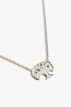 Cortefiel Silver tree necklace Gray