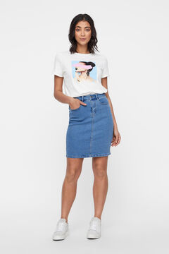 Cortefiel Denim skirt  Blue jeans