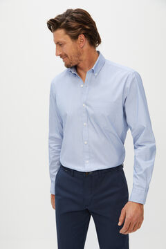 Cortefiel Plain Coolmax eco-made stretch shirt Blue jeans