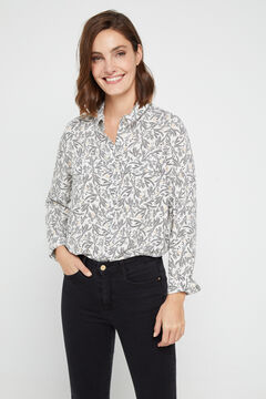 Cortefiel Shirt with pockets Natural