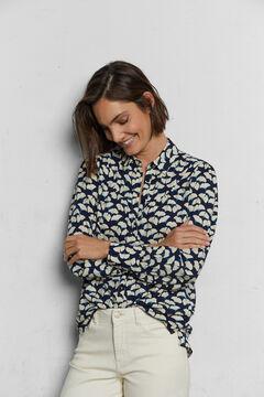 Cortefiel Camisa tejido sostenible Azul