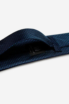 Cortefiel Micro textured tie Navy