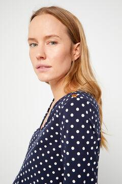 Cortefiel Essential organic cotton V-neck t-shirt Natural