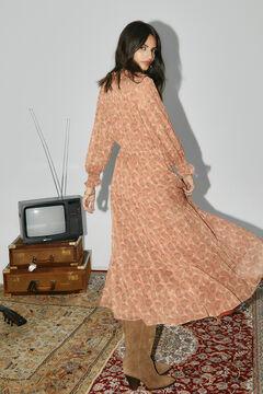 Cortefiel Printed dress Orange