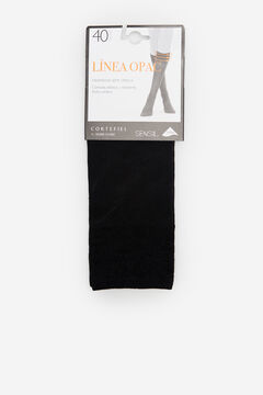 Cortefiel Semiopac 40D knee-high pop socks Black