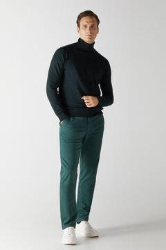 Cortefiel Essential regular fit chinos Dark green