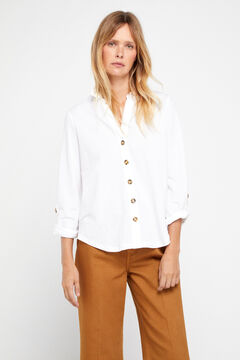 Cortefiel Comfort shirt White