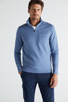 Cortefiel Turtleneck sweatshirt Royal blue