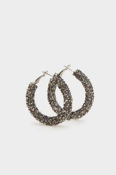 Cortefiel Medium sparkly hoops Gray