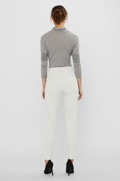 Cortefiel Ankle-length trousers White