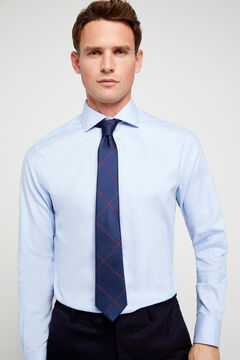 Cortefiel Classic textured dress shirt Blue