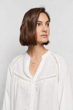 Cortefiel Sustainable fabric blouse White
