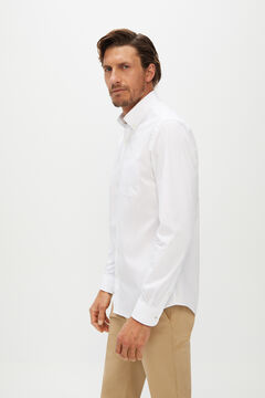 Cortefiel Plain Coolmax eco-made stretch shirt White