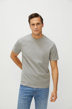 Cortefiel Short-sleeved T-shirt Gray