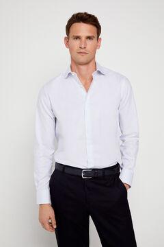 Cortefiel Classic striped dress shirt Royal blue