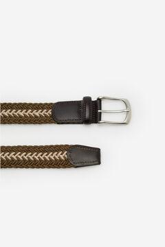 Cortefiel Woven fabric belt Pink