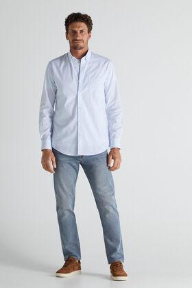 Cortefiel Slim fit medium wash jeans Royal blue