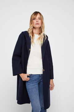 Cortefiel Dual fabric coat Navy
