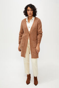 Cortefiel Aran pockets cardigan Brown