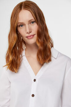 Cortefiel Tortoiseshell buttons shirt White