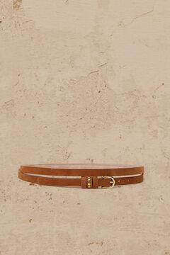 Cortefiel Cinturón piel doble vuelta Marrón