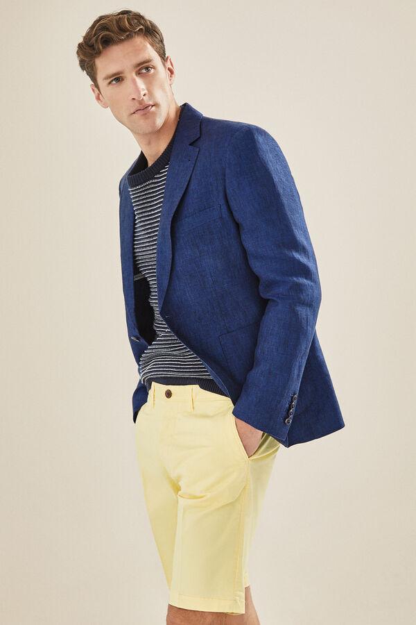 4031f1af2aa44 Cortefiel Americana de lino en tailored fit Azul