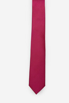 Cortefiel Micro dot tie Plum